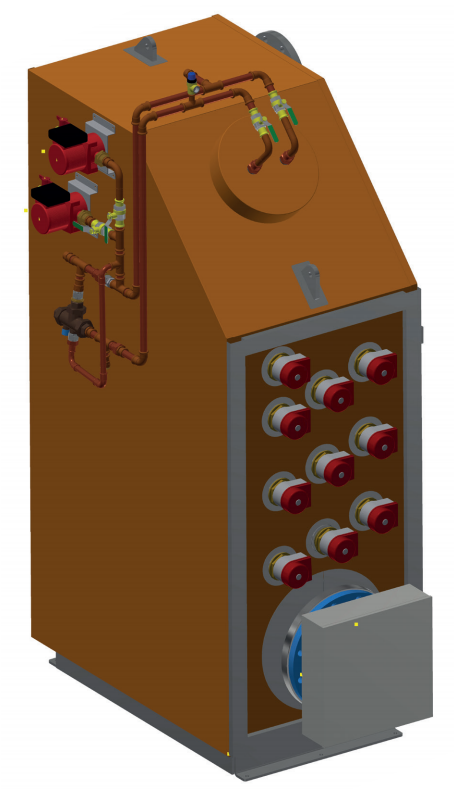 3D-drawing of an Electrical Heater